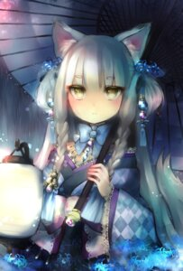 Rating: Safe Score: 41 Tags: animal_ears asian_clothes tail umbrella yumeichigo_alice User: charunetra