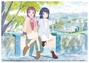 Rating: Safe Score: 17 Tags: dress ishii_yuriko mukaido_manaka nagi_no_asukara shiodome_miuna sweater User: saemonnokami