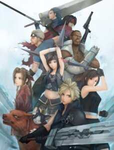 Rating: Safe Score: 36 Tags: advent_children aerith_gainsborough barret_wallace cait_sith cid_highwind cloud_strife final_fantasy final_fantasy_vii gun miche red_xiii sword tifa_lockhart vincent_valentine yuffie_kisaragi zack_fair User: brigfox
