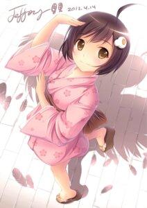 Rating: Safe Score: 103 Tags: araragi_tsukihi bakemonogatari jeffery jpeg_artifacts kimono nisemonogatari User: mula3