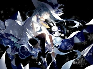 Rating: Safe Score: 43 Tags: cui_(jidanhaidaitang) hatsune_miku thighhighs vocaloid witch yuki_miku User: Mr_GT