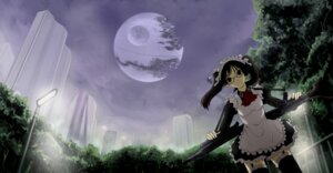 Rating: Safe Score: 12 Tags: gun kazu maid megane star_wars thighhighs User: charunetra