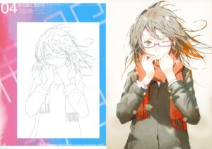 Rating: Safe Score: 27 Tags: fuyuno_haruaki headphones megane sketch techno_fuyuno User: midzki