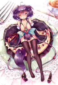 Rating: Explicit Score: 54 Tags: animal_ears breasts cum dk_senie futanari heterochromia nipples no_bra nopan open_shirt penis tail thighhighs User: Kawaiideath