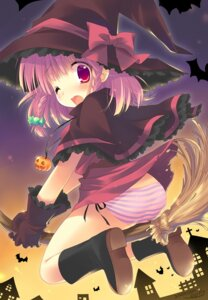 Rating: Questionable Score: 25 Tags: emily halloween pantsu shimapan witch User: blooregardo