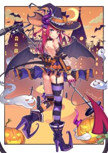 Rating: Questionable Score: 36 Tags: ass elizabeth_bathory fate/grand_order halloween heels horns kaer_sasi_dianxia no_bra pantsu pointy_ears shimapan stockings tail thighhighs thong torn_clothes wings witch User: BattlequeenYume