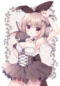 Rating: Safe Score: 26 Tags: animal_ears bunny_ears canvas+garden cleavage dress mana_(canvas+garden) miyasaka_nako User: lightsnow