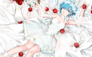 Rating: Safe Score: 37 Tags: cleavage dress qidai re_zero_kara_hajimeru_isekai_seikatsu rem_(re_zero) wedding_dress User: charunetra