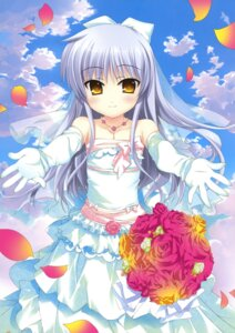 Rating: Safe Score: 40 Tags: angel_beats! dress fujima_takuya tenshi wedding_dress User: crim