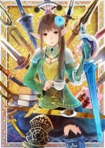 Rating: Safe Score: 2 Tags: elf pointy_ears sakimori sword User: charunetra