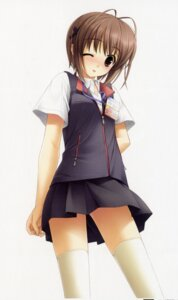 Rating: Safe Score: 45 Tags: amatsume_akira hashimoto_takashi sphere thighhighs yosuga_no_sora User: Share