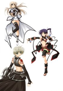 Rating: Safe Score: 9 Tags: higa_yukari isis_eaglet lily_strosek mahou_senki_lyrical_nanoha_force mahou_shoujo_lyrical_nanoha thighhighs tohma_avenir User: Radioactive