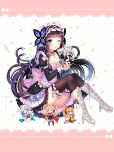 Rating: Safe Score: 61 Tags: chibi cleavage garter lolita_fashion ratise thighhighs unleashed User: fairyren