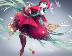 Rating: Safe Score: 27 Tags: dress hatsune_miku little_red_riding_hood_(character) lyodi thighhighs vocaloid User: KazukiNanako