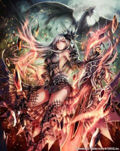Rating: Safe Score: 99 Tags: anbe_yoshirou deity_wars monster sword thighhighs tyrfing User: blooregardo
