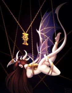 Rating: Questionable Score: 10 Tags: ass bondage devil horns miranda_(zliva) monster_girl naked nipples tail wings zliva User: dick_dickinson