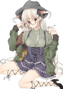 Rating: Safe Score: 36 Tags: dress heels horns megane smoking yana_mori User: Mr_GT