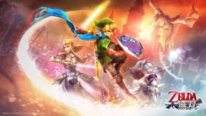 Rating: Safe Score: 6 Tags: armor cg dress hyrule_warriors koei_tecmo lana link pantyhose pointy_ears princess_zelda sword the_legend_of_zelda thighhighs wallpaper User: fly24