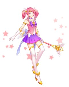 Rating: Safe Score: 17 Tags: heels kezi league_of_legends luxanna_crownguard thighhighs weapon User: charunetra