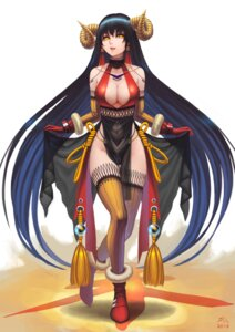 Rating: Safe Score: 61 Tags: cleavage darkmuleth horns no_bra see_through thighhighs User: Mr_GT