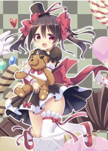 Rating: Safe Score: 46 Tags: dress kurou_(quadruple_zero) love_live! pantsu shimapan thighhighs yazawa_nico User: Mr_GT