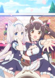 Rating: Safe Score: 56 Tags: animal_ears chocola maid minaduki_kashou neko_works nekomimi nekopara vanilla waitress User: kotorilau