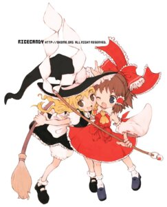 Rating: Safe Score: 5 Tags: hakurei_reimu kirisame_marisa okome_(ricecandy) touhou User: Radioactive