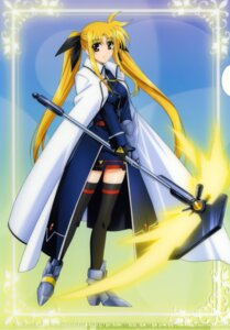 Rating: Safe Score: 14 Tags: armor fate_testarossa mahou_shoujo_lyrical_nanoha mahou_shoujo_lyrical_nanoha_strikers thighhighs weapon User: admin2