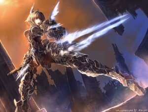 Rating: Safe Score: 74 Tags: armor pointy_ears sword windforcelan User: Radioactive