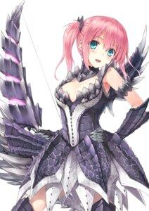 Rating: Safe Score: 176 Tags: alatreon armor dress hiten monster_hunter thighhighs weapon User: 椎名深夏