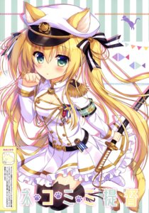 Rating: Questionable Score: 40 Tags: ame_to_yuki animal_ears nekomimi sword tail thighhighs uniform User: drop
