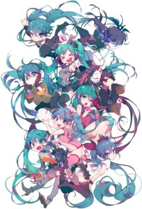Rating: Safe Score: 76 Tags: ass bandages black_rock_shooter black_rock_shooter_(character) bodysuit character_design crossover feet hatsune_miku headphones heels inhye kimono matryoshka_(vocaloid) nurse odds_&_ends_(vocaloid) pantsu romeo_and_cinderella_(vocaloid) tattoo thighhighs vocaloid world_is_mine_(vocaloid) zatsune_miku User: charunetra