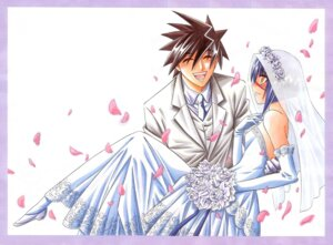 Rating: Safe Score: 4 Tags: business_suit busou_renkin dress muto_kazuki tsumura_tokiko watsuki_nobuhiro wedding_dress User: Radioactive