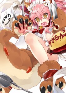 Rating: Safe Score: 36 Tags: animal_ears fate/grand_order kou_mashiro maid naked_apron tail tamamo_cat User: fairyren