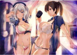 Rating: Questionable Score: 24 Tags: bra cleavage jpeg_artifacts kaga_(kancolle) kantai_collection kashima_(kancolle) lawson open_shirt pantsu renji see_through uniform User: kiyoe