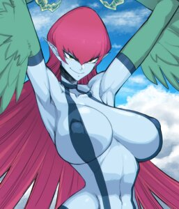 Rating: Questionable Score: 24 Tags: erect_nipples monster_girl pointy_ears sling_bikini space_jin swimsuits wings yugioh User: Radioactive