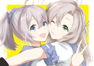 Rating: Safe Score: 10 Tags: aoba_(kancolle) kantai_collection kinugasa_(kancolle) morinaga_miki User: Nepcoheart