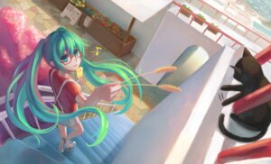 Rating: Safe Score: 30 Tags: hatsune_miku megane neko shon signed vocaloid User: mattiasc02
