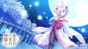 Rating: Safe Score: 17 Tags: animal_ears bunny_ears japanese_clothes lump_of_sugar madohi_shiroki_no_kamikakushi moekibara_fumitake pantyhose wallpaper User: bakatori