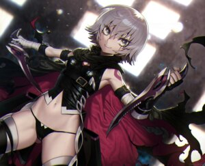 Rating: Safe Score: 24 Tags: bandages fate/apocrypha fate/stay_night jack_the_ripper souma_kira tattoo thighhighs weapon User: Mr_GT