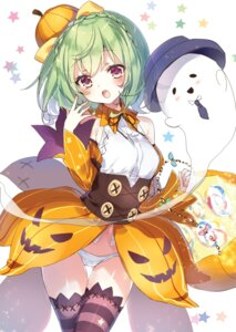 Rating: Safe Score: 27 Tags: emia flower_knight_girl halloween kasuteranosuzu pantsu thighhighs User: kiyoe