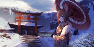 Rating: Safe Score: 26 Tags: animal_ears kimono sagiri_(ulpha220) umbrella User: BattlequeenYume