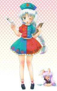 Rating: Safe Score: 7 Tags: animal_ears bunny_ears chibi michii_yuuki reisen_udongein_inaba touhou yagokoro_eirin User: konstargirl