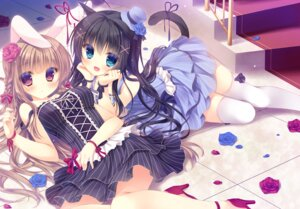 Rating: Questionable Score: 90 Tags: animal_ears bunny_ears dress heels nekomimi tail thighhighs yukie User: blooregardo