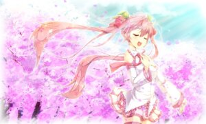 Rating: Safe Score: 23 Tags: hatsune_miku sakura_miku thighhighs vocaloid yukinon User: fairyren
