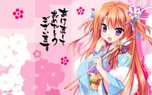 Rating: Safe Score: 54 Tags: floral_flowlove hontani_kanae kimono mihato_kano saga_planets wallpaper User: Estraizher