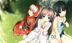 Rating: Safe Score: 41 Tags: arishima_alice cura digital_version dress kimono lose monobeno sawai_natsuha see_through sumi_(monobeno) summer_dress User: Twinsenzw