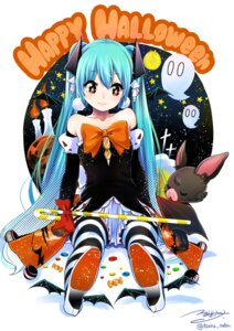 Rating: Questionable Score: 24 Tags: dress halloween hatsune_miku heels thighhighs tsurushima_tatsumi vocaloid User: nphuongsun93
