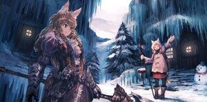 Rating: Safe Score: 27 Tags: animal_ears armor jan_(artist) pantyhose tail weapon User: Zenex