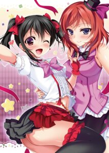 Rating: Questionable Score: 47 Tags: ass garter love_live! ninoko nishikino_maki nopan thighhighs yazawa_nico User: 椎名深夏